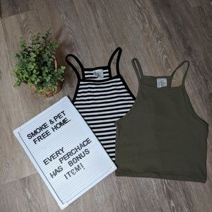 2 pack Cropped tank tops